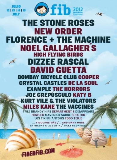 Dizzee Rascal, De La Soul, Kurt Ville o David Guetta, una selección de los nuevos nombres del FIB 2012