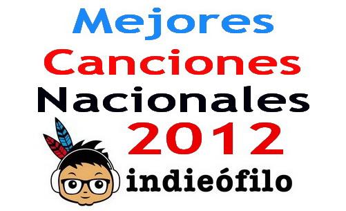 Mejores canciones nacionales 2012