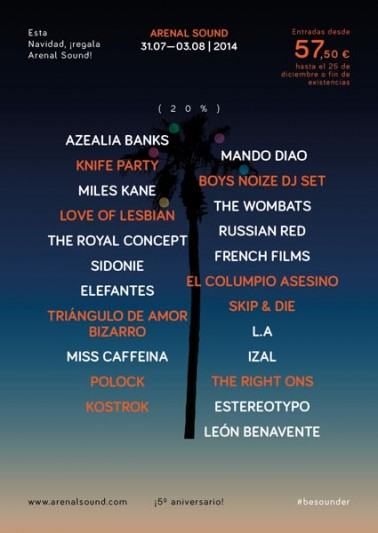 arenal sound 2014 Love of Lesbian