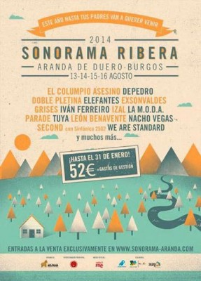 Sonorama 2014 -  2 cartel
