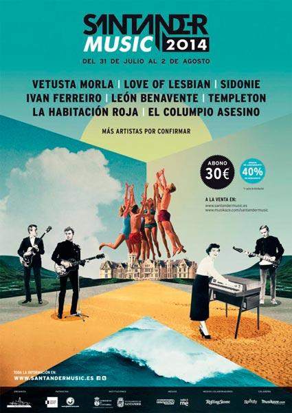 Vetusta Morla, El Columpio Asesino, La Habitación Roja y Templeton, nuevos nombres para el Santander Music 2014