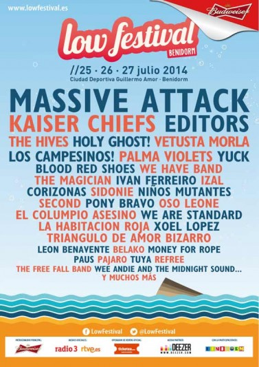 Massive Attack and Kaiser Chiefs confirmed for Low Festival 2014