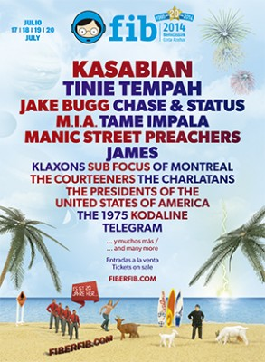 Kasabian or Manic Street Preachers, among others, confirmed for 20th FIB Anniversary