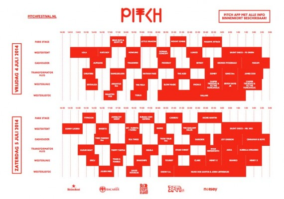 Pitch 2014 timetable