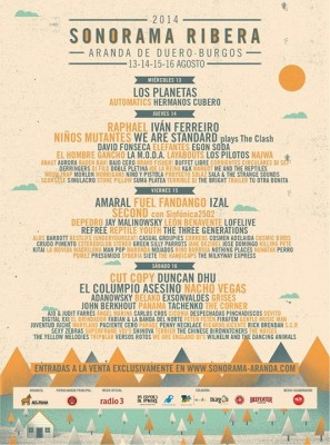Sonorama 2014 - Cartel final