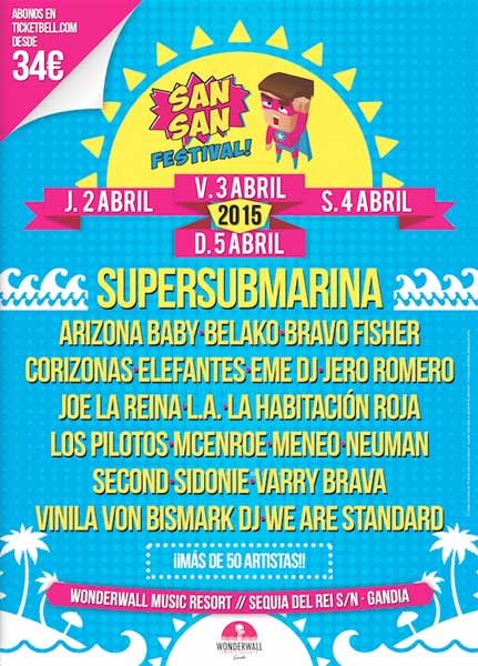 Supersubmarina, Sidonie, Neuman o Belako, nuevos nombres para el San San Festival 2015