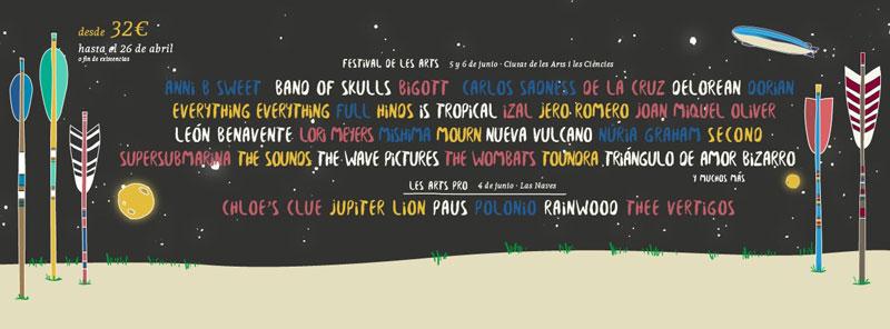 Band of Skulls y Carlos Sadness confirmados para el Festival de les Arts 2015