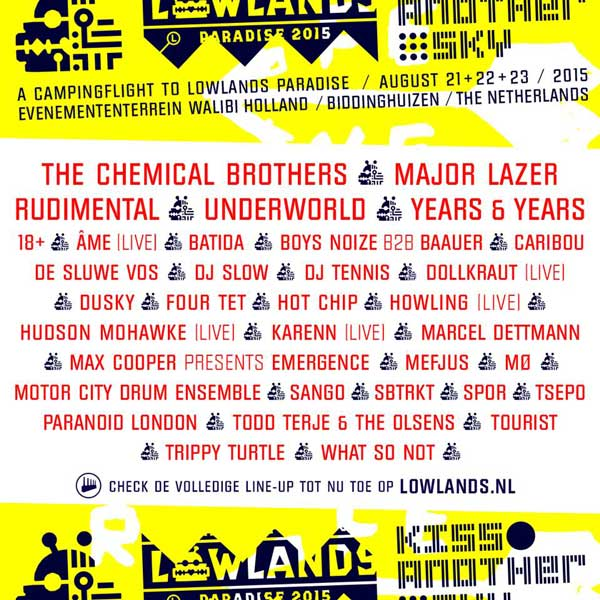 Lowlands 2015 Dusky Spor DJ Slow
