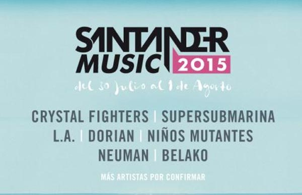 Crystal Fighters, L.A., Neuman y Belako confirmados para el Santander Music 2015