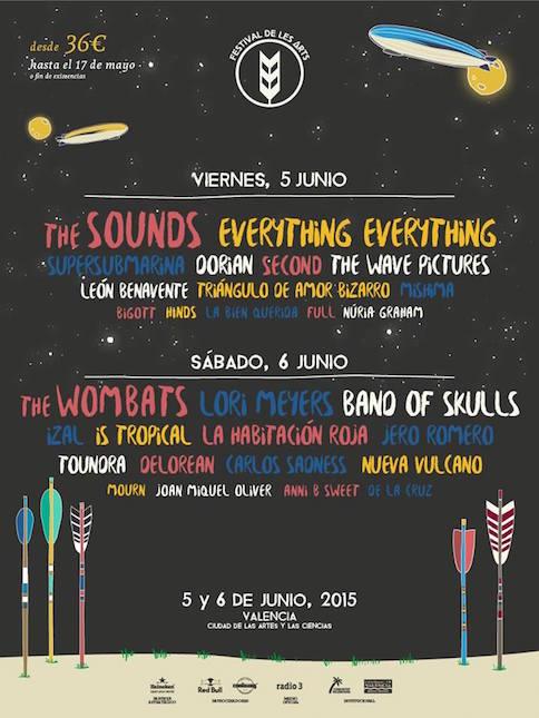 Cartel por dias para el Festival De Les Arts
