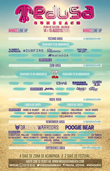 El Medusa Sunbeach Festival 2015 tendrá escenario Indie