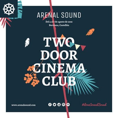 Two Door Cinema Club, first headliner for Arenal Sound 2016