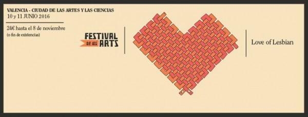 Love of Lesbian - festival de les arts 2016