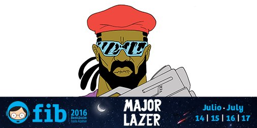 Major Lazer confirmados para el FIB 2016