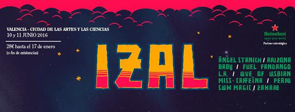 Izal confirmados para el Festival de les Arts 2016