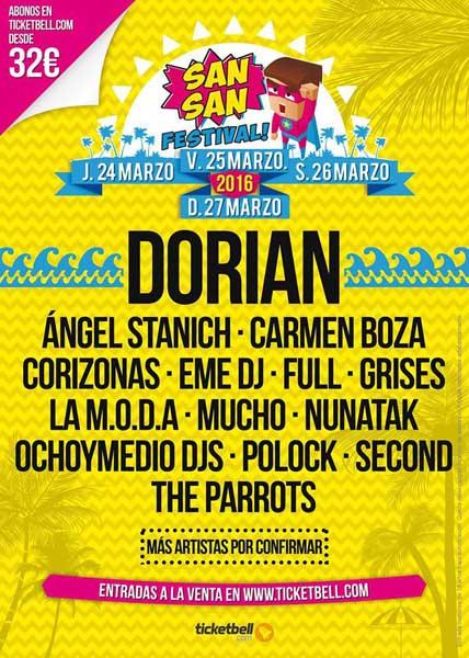 Segunda tanda de nombres para el SanSan Festival 2016