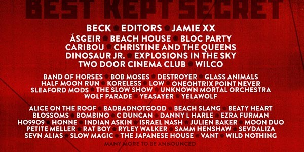 33 new names for Best Kept Secret Festival 2016