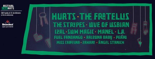 Hurts confirmados para el Festival de les arts 2016
