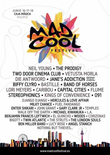 Die Antwoord or Biffy Clyro, to Mad Cool Festival 2016