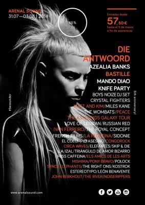 Die Antwoord nuevo cabeza de cartel de Arenal Sound 2014