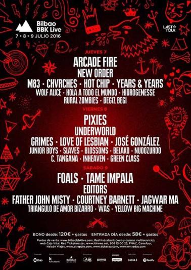 Editors o Underworld, al Bilbao BBK Live 2016