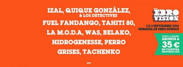 Quique González y Perro, confirmados para Ebrovisión 2016