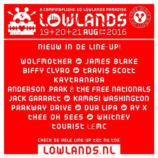 15 nuevos nombres para Lowlands 2016