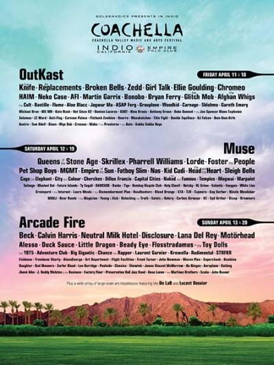 Anunciado el cartel del Coachella 2014