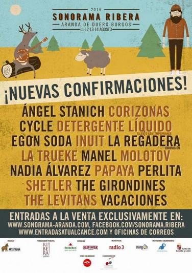 Manel o Molotov, entre las nuevas confirmaciones del Sonorama Ribera 2016