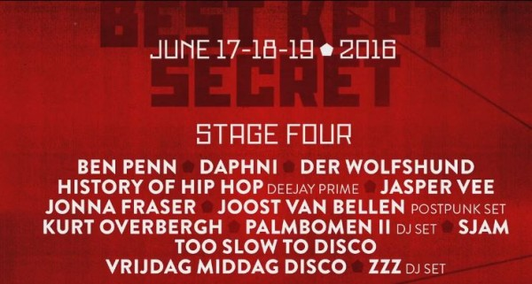 Best Kept Secret 2016 electronic stage Line-Up announced