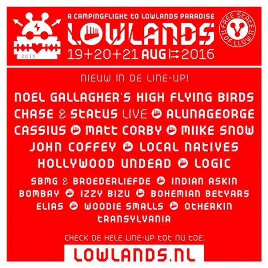 Noel Gallagher confirmed for Lowlands 2016