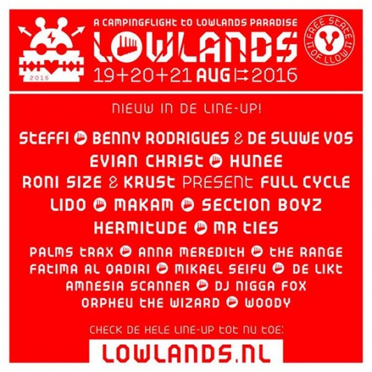 Dance names for Lowlands 2016