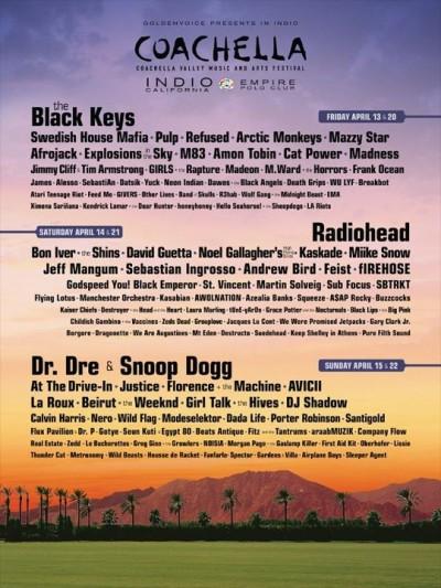 Se confirma el cartel del Coachella 2012