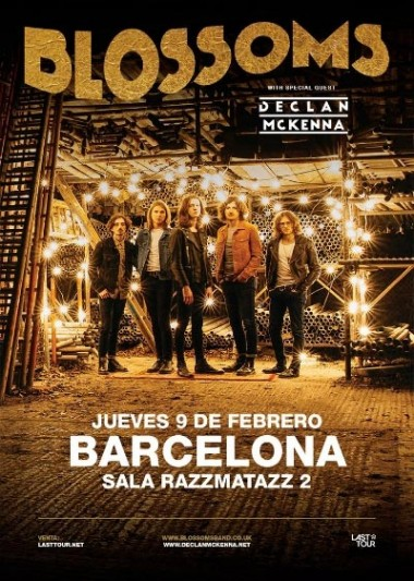 Blossoms announce one gig in Barcelona in February 2017