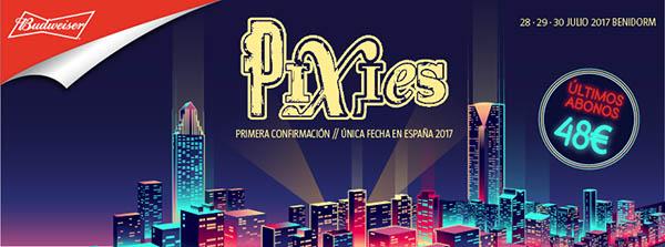 Pixies, primer cabeza de cartel del Low Festival 2017