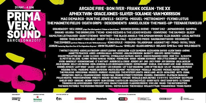 Pitchfork anuncia las bandas que tocarán en su escenario en el Primavera Sound 2017
