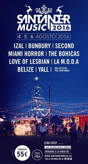 Bunbury, Miami Horror y Yall, al Santander Music Festival 2016
