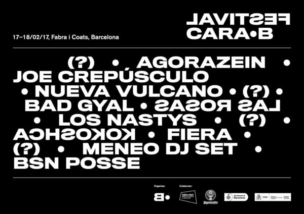 Primeros nombres para el Festival Cara•B 2017