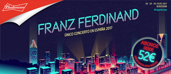 Franz Ferdinand confirmed for Spanish Low Festival 2017