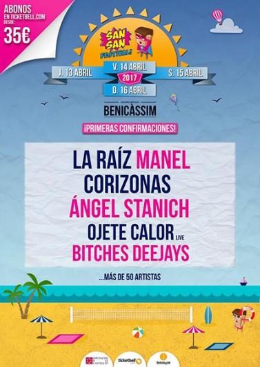 Primeros nombres para el SanSan Festival 2017