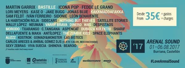 Bastille vuelven al Arenal Sound 2017