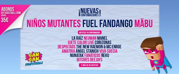 Tres nuevas bandas para el SanSan festival 2017