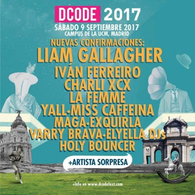 Liam Gallagher o Charli XCX, al DCODE 2017