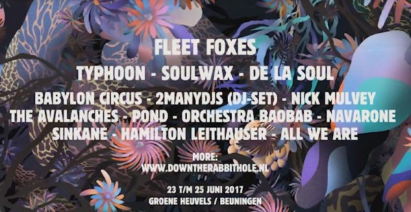14 new bands for Down The Rabbit Hole 2017