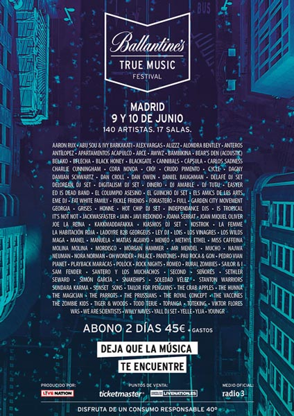 Ballantine´s True Music Festival – A new urban festival in Madrid