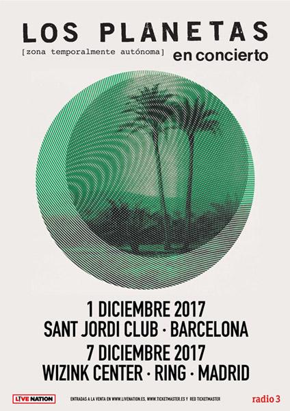 Los Planetas, en Barcelona y Madrid en diciembre de 2017