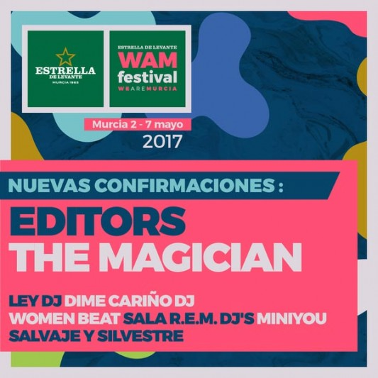 Editors to headline Spanish WAM Estrella de Levante 2017
