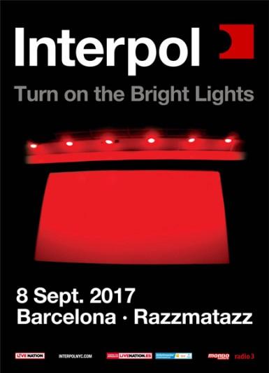 Interpol in Barcelona on September 2017