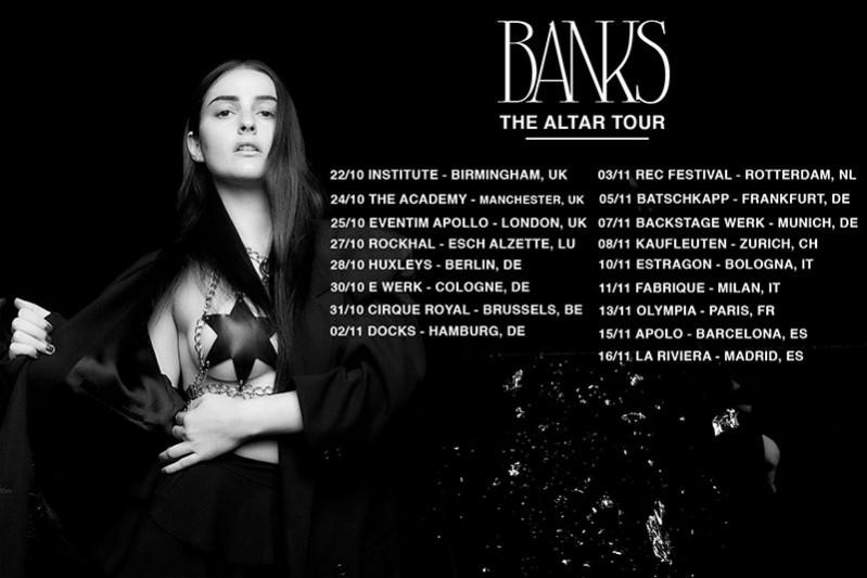 Banks announces European tour Autumn 2017