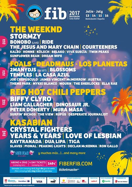 FIB 2017 daily line-up and new bands announced